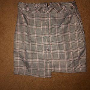 JOA plaid mini skirt new with tags